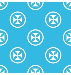 Maltese cross sign blue pattern vector