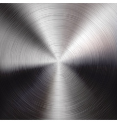 Metal Background with Circular Brushed Texture vector image
