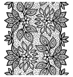 Old lace seamless pattern ornamental border vector