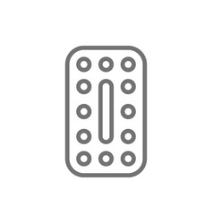 oral contraceptives hormonal pills contraceptive vector image