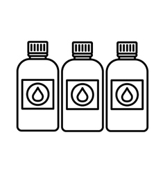 Printer ink bottles icon outline style vector