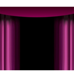 Purple curtain vector