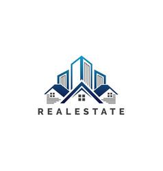 Real estate business logo design template vector