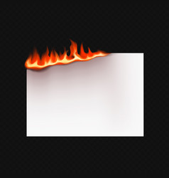 realistic burning paper vector image