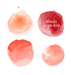 red colors watercolor paint stains vector image