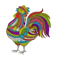 Rooster Cock Hand drawn farm vector
