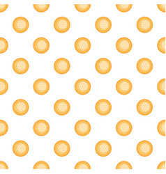 Round biscuit pattern seamless vector