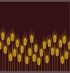 Seamless repeating wheat rye or barley field vector