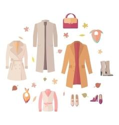 Seasonal Sale Concept in Flat Design vector image