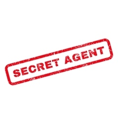 Secret Agent Rubber Stamp vector