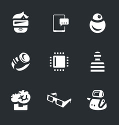set of robo battle icons vector image