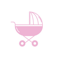 Silhouette baby stroller tool to baby relax vector