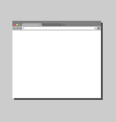 Simple browser window vector