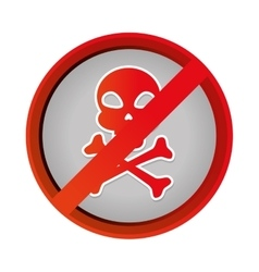 Skull danger symbol icon vector