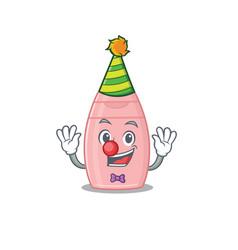 Smiley clown baby cream cartoon character design vector