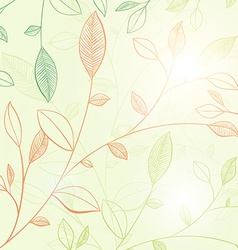 Soft pastel floral design vector