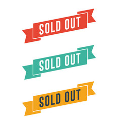 Sold out ribbons vector