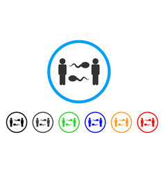 sperm exchange men rounded icon vector image