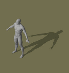 standing man 3d isometric projection vector image
