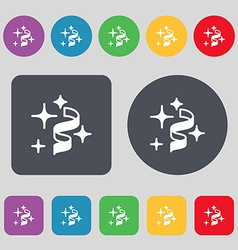 Tape icon sign A set of 12 colored buttons Flat vector image