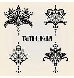 Tattoo Design Elements vector image