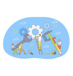 teamwork cooperation collaboration partnership vector image