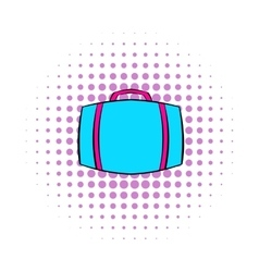 Travel suitcase icon comics style vector image