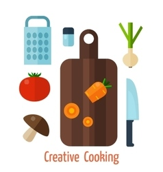 Vegetarian food background vector