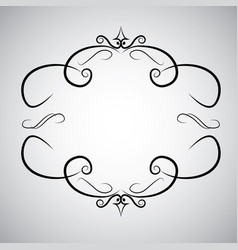 vintage baroque frame scroll ornament engraving vector image