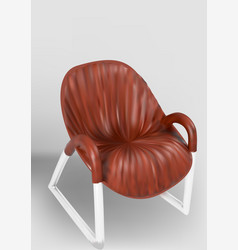 wooden chair with metal legs vector image