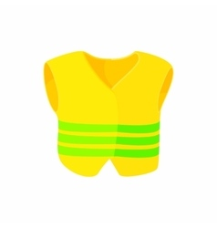 Yellow vest icon cartoon style vector