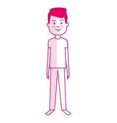 Young man model avatar character vector