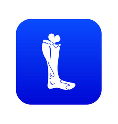 zombie leg icon digital blue vector image