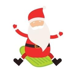 Cartoon extreme Santa winter sport vector image vector image