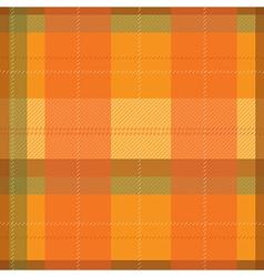 Orange Tartan Plaid Pattern vector image