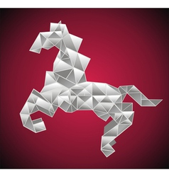 Origami horse vector image