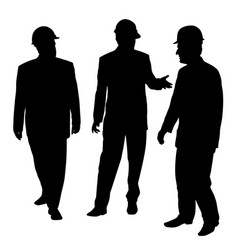 three businessmen architects engineers or workers vector image vector image