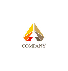 triangle shape colored company logo vector image vector image