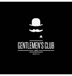 vintage label with gentleman vector image