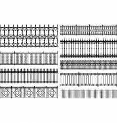 fences vector image vector image