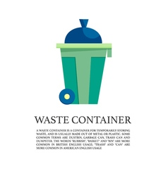 flat outdoor trash can concept vector image vector image