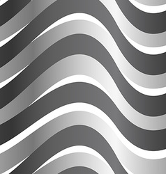Grey abstract wave in a seamless pattern vector image vector image