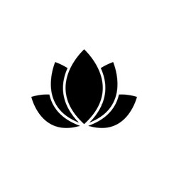 lotus - india icon black vector image vector image