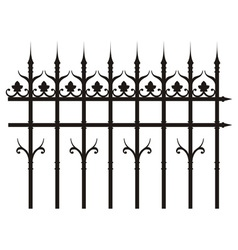 vintage iron fence vector image vector image