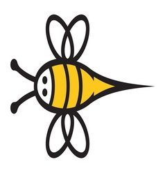 Bee icon2 resize vector image vector image