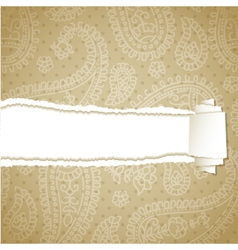 Beige torn pattern vector image vector image