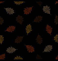 seamless pattern of autumn leaves of red oak vector image vector image