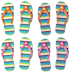 set of flip-flops vector image