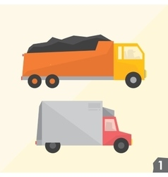 Trucks Transportation set 1 vector image vector image