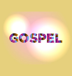 gospel concept colorful word art vector image vector image